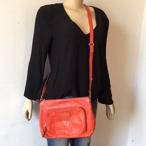 Kate Spade ♠️ Cross Body bag Red color Leather
